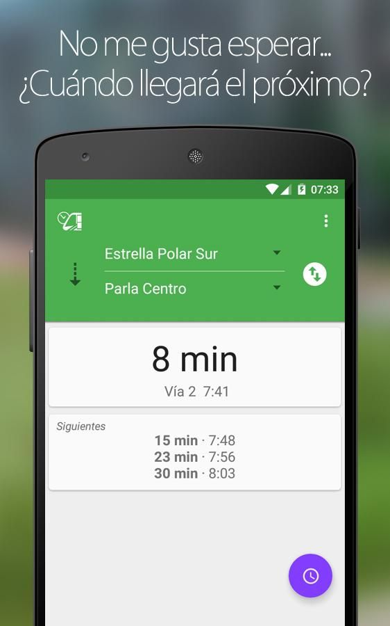 App Próximo tranvía Parla