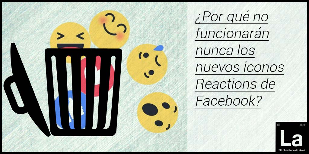 Iconos de Facebook reactions